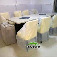 现代煤气炉火锅桌哪里有得卖 石材火锅餐桌椅 多多乐家具