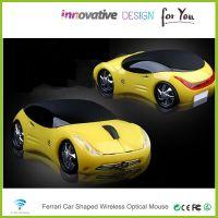 供应2.4G无线法拉利跑车鼠标CMP-01个性光电鼠标创意卡通汽车鼠标