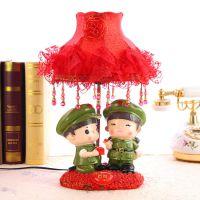 嫁给我吧!树脂喜庆红军台灯 甜蜜情侣 婚庆用品摆件批发 SA427