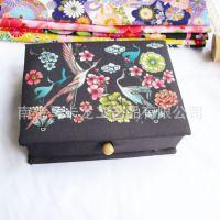 布艺针线盒 手工首饰盒 diy针线套装收纳盒 包布纸盒可订做