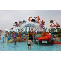 供应水上游艺设施、儿童戏水设备、儿童水屋、18X14X7米水屋