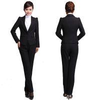 定制韩版气质ol职业装女套装 职场女士西服套装 美容师工作服