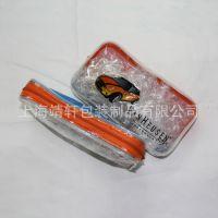 F39印刷拉链pvc包笔袋 透明拉链pvc铅笔笔袋 圆筒型带拉链pvc笔袋