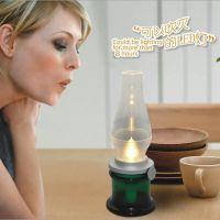 全国首发 LED吹控怀旧灯 复古马灯吹控感应煤油灯蜡烛灯创意台灯