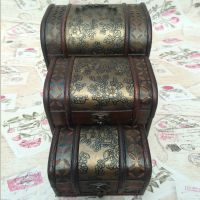 仿古老式木箱 欧式复古 木质首饰箱 婚纱儿童摄影楼拍照道具 必备