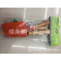 T021-3PC儿童木柄园林工具套装吊卡,铲子,耙子