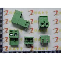 弯针KF2EDGK 2P拔插式接线端子 脚距5.08MM 300V10A 插针+插座