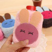 韩版新款小清新毛绒立体热水袋暖手壶 便携注水式兔子暖手袋