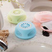 室内吸湿防潮竹炭包 卫生间除异味圆形竹炭盒-1个装