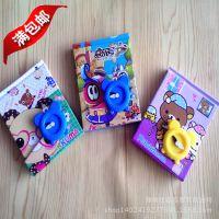 72K韩国可爱卡通密码本带锁儿童闹钟迷你口袋记事本创意日记本
