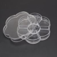 7格梅花型塑料盒 钻盒 收纳盒 透明饰品盒 储物盒 厂家批发