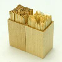 创意牙签筒 配牙签 枫木手工制作 家居日用品 牙签有2头尖或1头尖