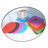 硅胶杯垫圆形硅胶咖啡杯垫方形硅胶杯垫食品级硅胶