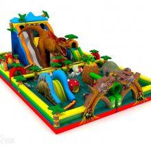 20-12新款侏罗纪时代 大型恐龙充气滑梯蹦蹦床 室外儿童广场跳跳床价格