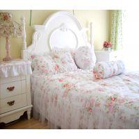 厂家直销 全棉斜纹床裙床罩 韩版蕾丝装饰质量赞  *浪漫邂逅*