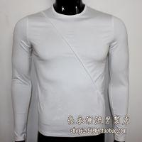 供应精品男装修身长袖T恤镶边简洁纯色打底衫丝光棉超舒服面料