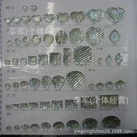 厂家直销 树脂钻 镀底白树脂钻 方钻 DIY服饰配件