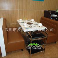 火锅桌椅定制|大理石方形餐桌|火锅桌大理石|餐桌椅组合