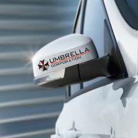 H-902 反光生化危机汽车后视镜装饰贴保护伞对贴新款热销现货批发