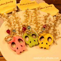1176 韩国官网流行风饰品 精品珍珠骷髅头手链 可爱大骷髅链饰