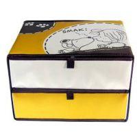 积分促销活动礼赠品史努比条纹两格收纳盒SP- H303收纳箱