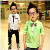 秋款童衬衫 外贸原单韩版男童衬衫 童装