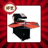 旋转式全自动四工位40*40烫画机气动四工位热转印机服装压烫机器