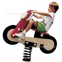 厂家直销小区PE板弹簧摇马 PE板摇摇乐 摩托车摇乐