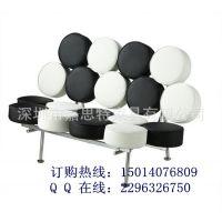 中国制造 围棋休闲沙发 黑白调休闲家具