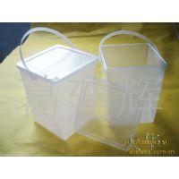 供应PP长方透明塑料方桶