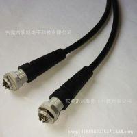 电缆线防水连接器 M12面板式2芯 LED防水插头 防水接头可固定