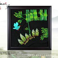炭雕挂件批发  活性炭精品 相框碳雕工艺品挂件 环保科技