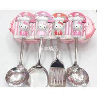 厂家直销MY030hello kitty厨具套装 KT汤勺/锅铲/面条捞勺/炒菜铲