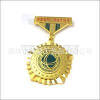 厂家供应电网金属纪念章 锌合金电镀金银铜证章纪念章 立功勋章