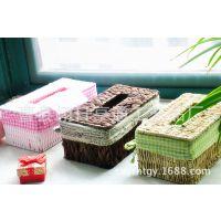 2014藤编抽纸盒  欧式时尚长方形面巾盒  汽车餐巾纸盒可定做