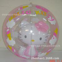 专业生产环保pvc充气沙滩球 直径13cm透明卡通led发光广告充气球