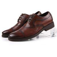 新款男正装皮鞋 韩版男鞋厚底舒适单鞋 韩版潮流真皮圆头低帮皮鞋
