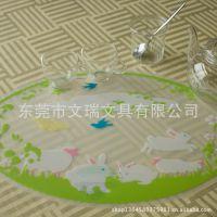 出口欧美PP餐垫 卡通餐垫 镂空桌垫 杯垫 PP垫片 PP垫板 儿童餐垫