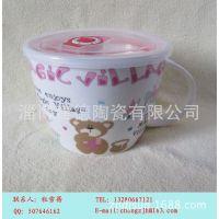 厂家定制陶瓷保鲜碗 陶瓷保鲜面杯 康师傅泡面碗 泡面杯