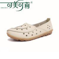 2014夏季新款时尚女鞋 休闲妈妈鞋 防滑牛筋底 洞洞鞋