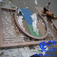 厂家供应水镀铜不锈钢屏风镂空安装工程不锈钢仿古隔断屏风