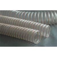 百色钢丝吸尘管,pu透明钢丝软管选兴盛,耐磨钢丝吸尘管