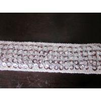 [厂家直销]手工订珠片花边 缝珠串珠 服装辅料 珠片带子 饰品珠带