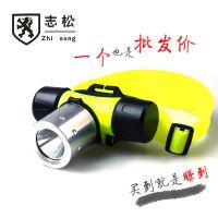 潜水头灯 户外强光充电 旋转变档 CREE-Q5 多功能迷你磁控照明