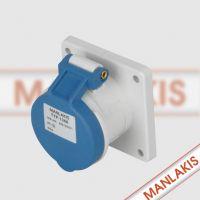 郑州哪有卖 1366MANLAKIS 防水工业插座 航空插座16A三孔插座