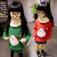 卡哇伊童装批发A 中小童圣诞老人童针织衫韩版女童针织衫