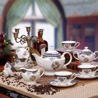 景德镇15头欧式咖啡杯套装 骨瓷咖啡具茶杯欧式咖啡具套装
