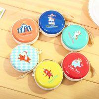 P12-2A490韩国文具礼品可爱马戏团动物圆形零钱包 硬币包