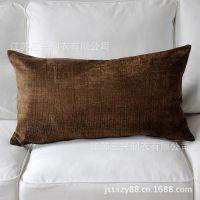 外贸单宜家全棉雪尼尔糖果色厚实靠垫抱枕含芯子填充特价定做
