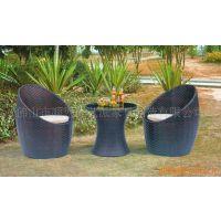 仿藤咖啡桌椅户外阳台藤编桌椅茶几三件套圆围椅洽谈桌椅咖啡藤椅